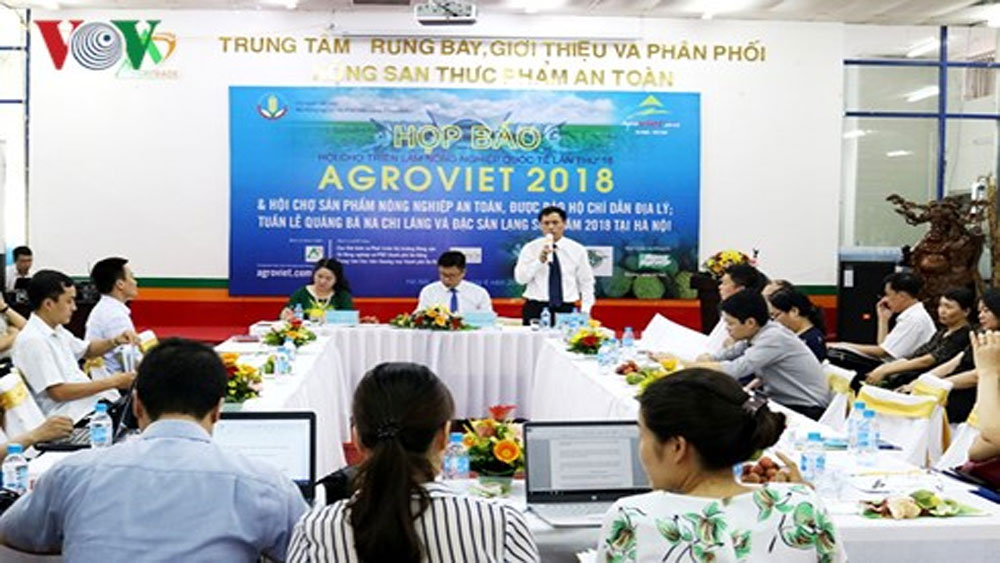 180 doanh nghiệp tham gia hội chợ nông nghiệp AgroViet 2018